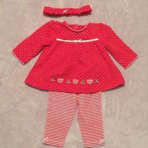 VGUC Baby Girl Christmas Set